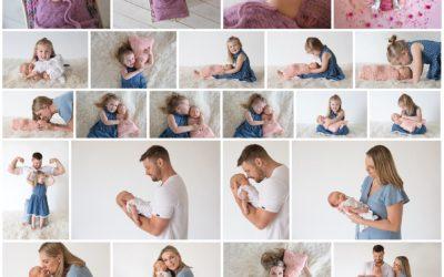 Ayla's newborn photography session with a hip brace