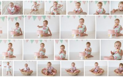 Ivy turns one and celebrates with a cake smash photography session