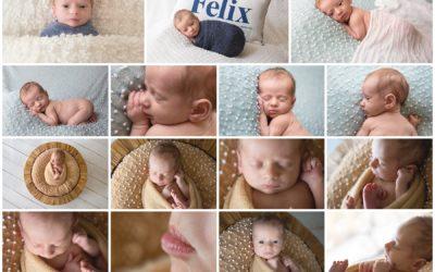 Fun newborn session with alert baby Felix