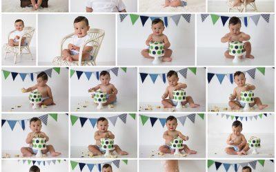 Semisi smashes the cake to celebrate turning 1!