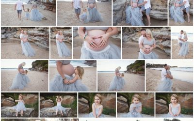 Fun Baby Bump session at Freshwater Beach